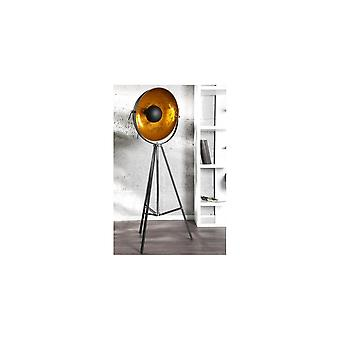 Ideal Lux Chicago Stage Antique Black And Gold Large Tripod Floor Lamp
