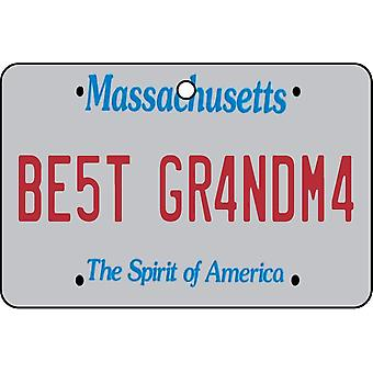 Massachusetts - Best Grandma License Plate Car Air Freshener
