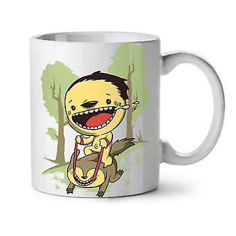 Cartoon söt skog nya vitt te kaffe keramik mugg 11 oz | Wellcoda