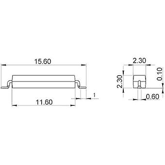 SMD reed switch 1 maker 200 Vdc, 200 Vac 0.4 A 10 W