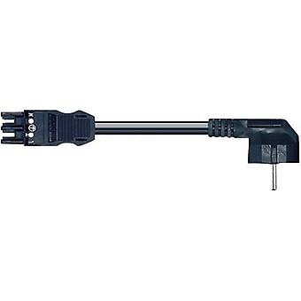 Mains cable Mains socket-PG right-angle plug Total number of pins: 3 Black WAGO 771-9993/306-101