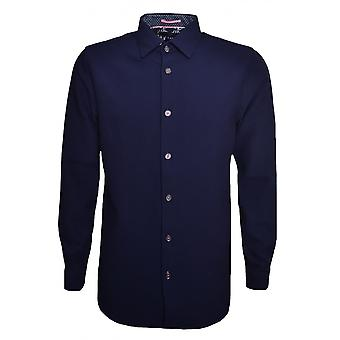 Ted Baker Men's Navy Blue Loretax Long Sleeved Shirt