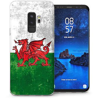 Samsung Galaxy S9 Plus Retro Welsh Dragon TPU Gel Case-groen