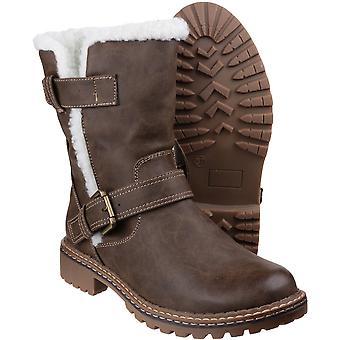 Divaz Womens/dames Nardo bont Trim Winter sneeuw laarzen
