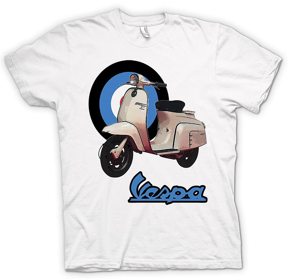 Womens T-shirt - Vespa - British Flag - Mod - Scooter
