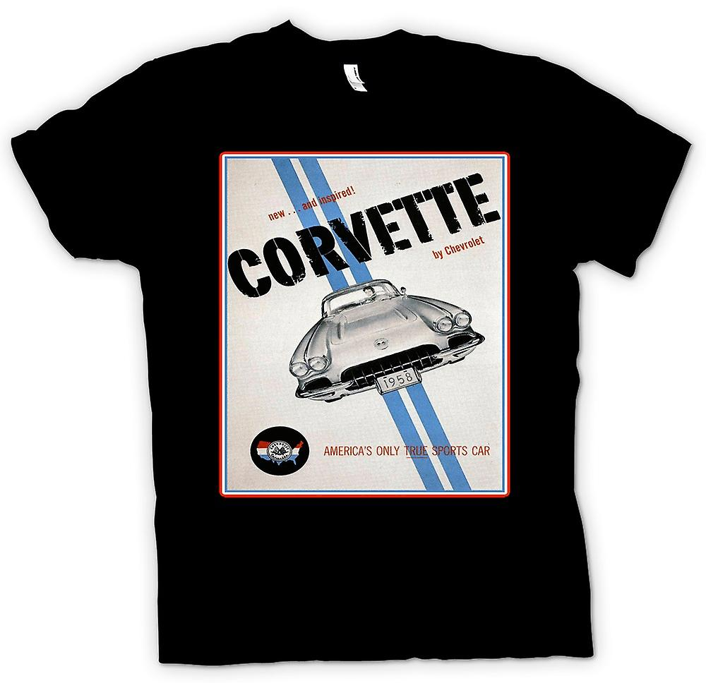 Womens T-shirt - Chevy Corvette sport - bil