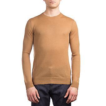 Prada Men's Alpaca Crewneck Sweater Brown