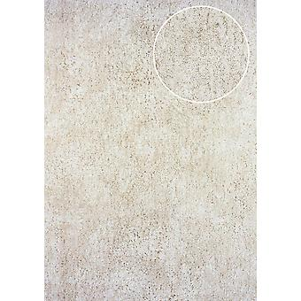 Tone on-tone wallpaper ATLAS here-5131-2 non-woven wallpaper structured in the Shabby chic style shiny cream perl white perl gold 7,035 m2