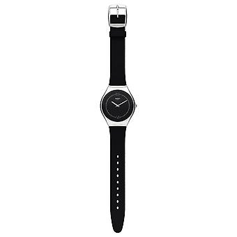 Swatch Syxs109 Skinalliage Silber & Black Rubber Uhr