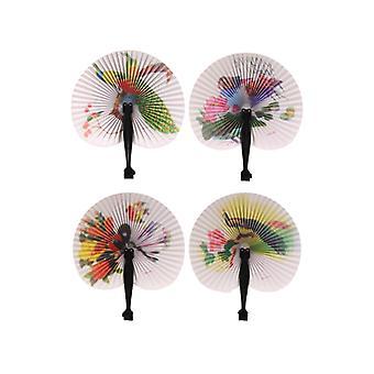 Orientalische Hand-Held-Fans - 1 pro Bestellung