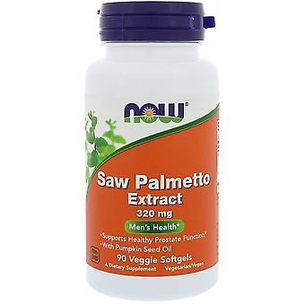 Now Foods Saw Palmetto Extract with Pumpkin Seed Oil 320 mg 90 Veggie Softgels