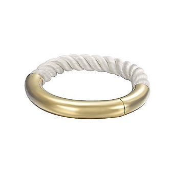 Joop kvinnors armband rostfritt stål guld tyg khaki JPBA00008B580
