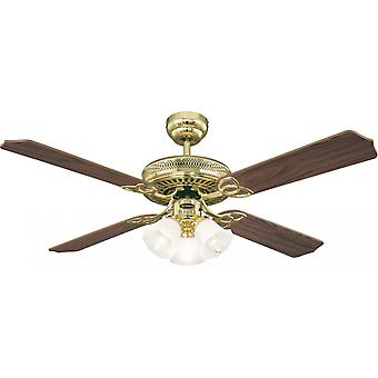Ventilatore a soffitto Westinghouse Monarch Trio ottone lucido 132 cm/52
