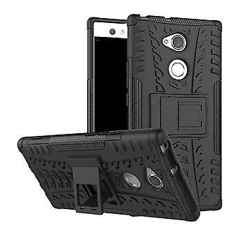 Híbrido caso 2 pedaço SWL robô preto para proteção de capa case bolsa Sony Xperia XA2