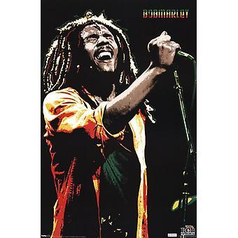 Bob Marley - singen Poster drucken