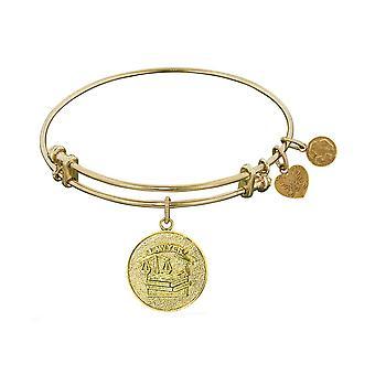 Stipple Finish Brass Lawyer Angelica Bangle Bracelet, 7.25
