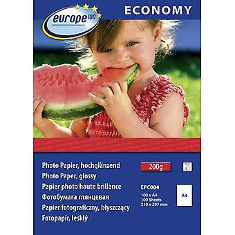 Europe 100 Economy Photo Paper Glossy EPC004 Photo paper A4 210 gm² 100 sheet High-lustre