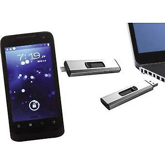 USB smartphone/tablet extra memory Xlyne Dual OTG Silver 32 GB USB 2.0, Micro USB 2.0
