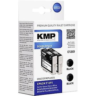 KMP Ink replaced Epson T1291 Compatible Pack of 2 Black E125D 1617,0021