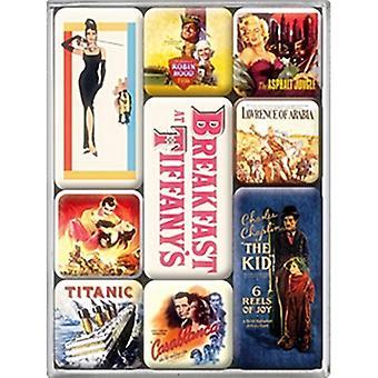 Movie Art Set Of 9 Mini Fridge Magnets