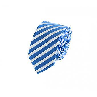 Tie tie tie tie 6cm Blue Fabio Farini white striped