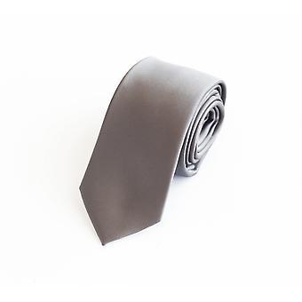 Cravatta cravatta cravatta cravatta 6cm argento grigio chiaro grigio uni Fabio Farini