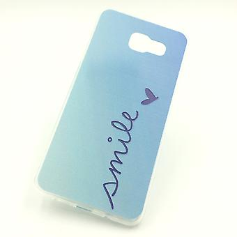 Cell phone case for Samsung Galaxy A5 2016 Smile Blau Pouch Case + 1 x tank protection glass