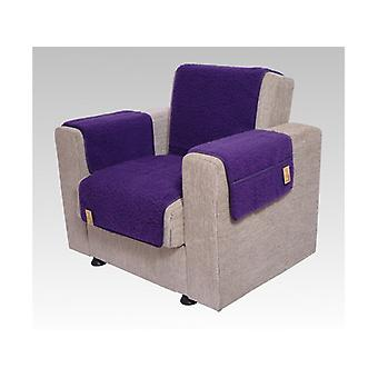 Armrests - and armchair saver set with 2 pockets MALI color: purple wool