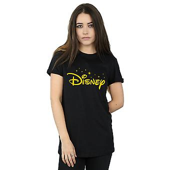 Disney Women's Logo Stars Boyfriend Fit T-Shirt