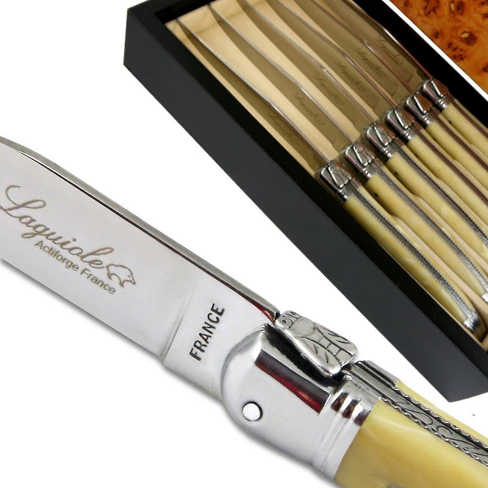 Laguiole couteaux à steak ABS luxe beige directe de la France