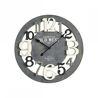 Gray And White Wooden Clock With Big Numbers-Re4988-Rebecca's Furniture