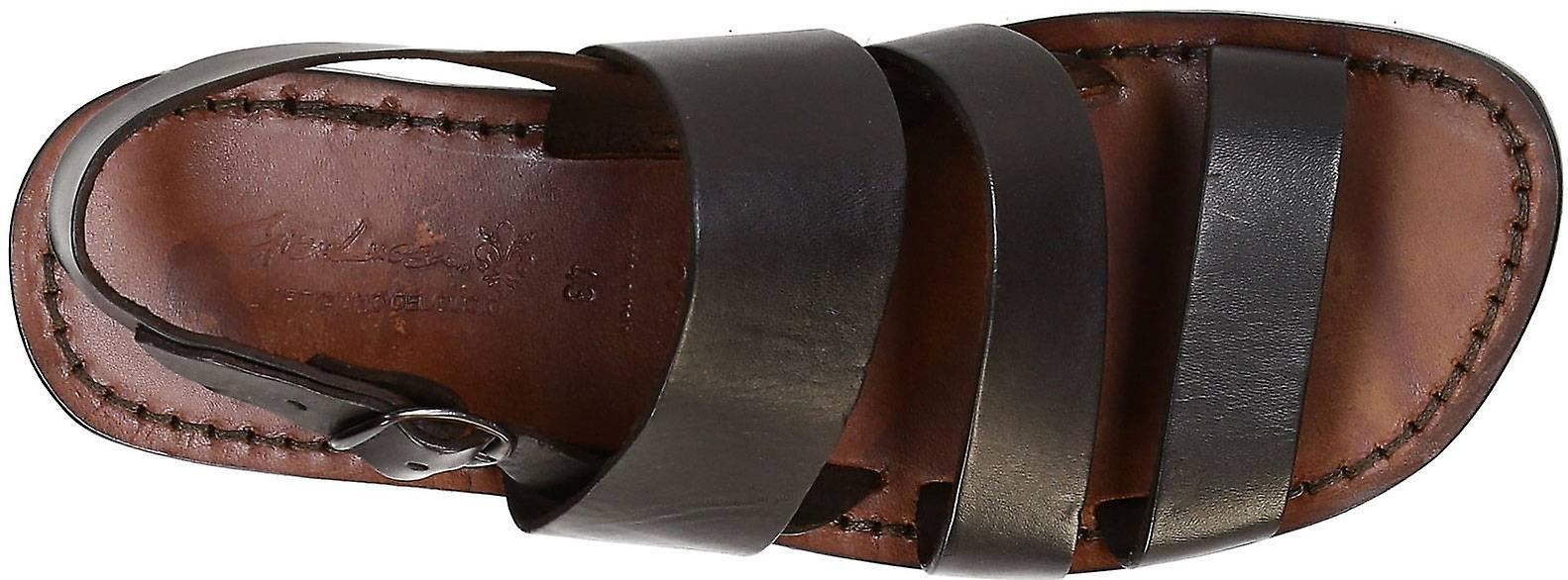 timeless design 428fb 9373f Braun Ledersandalen handgefertigt in Italien für Herren