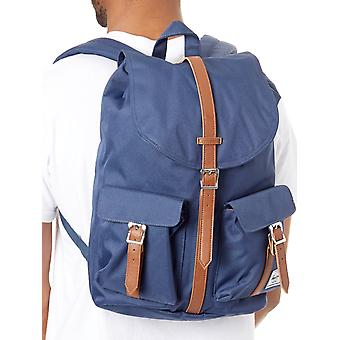 Herschel Navy-Tan Synthetic Leather Dawson - 20.5 Litre Backpack