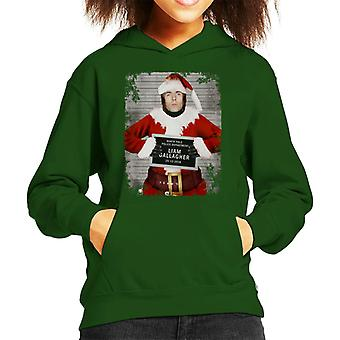Christmas Mugshot Liam Gallagher Kid's Hooded Sweatshirt
