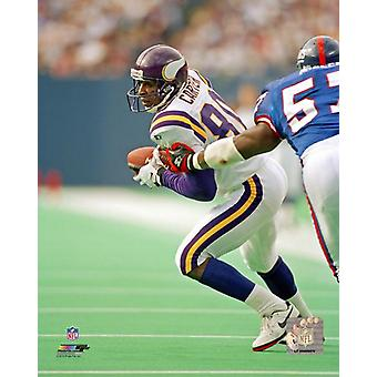 Cris Carter Action Photo Print