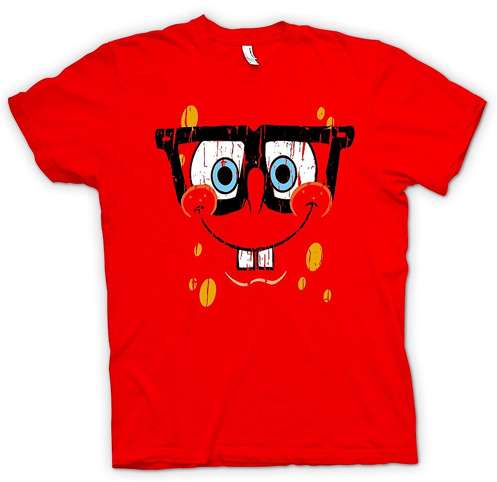 Mens T-shirt-Sponge Bob Square Pants Cool visage