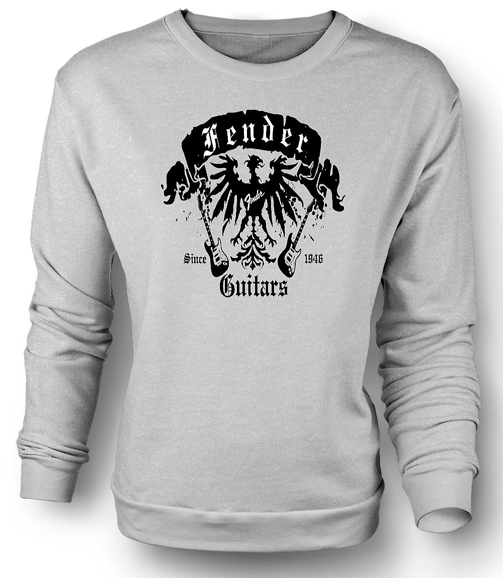 Mens Sweatshirt Fender Strata gitarrer 46 - Rock