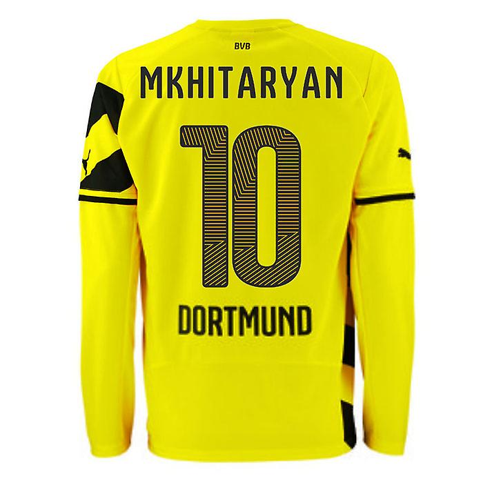 2014-15 Borussia Dortmund Long Sleeve Home Shirt (Mkhitaryan 10)