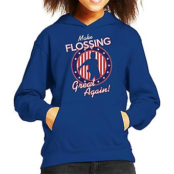 Make Flossing Great Again Kid's Hooded Sweatshirt