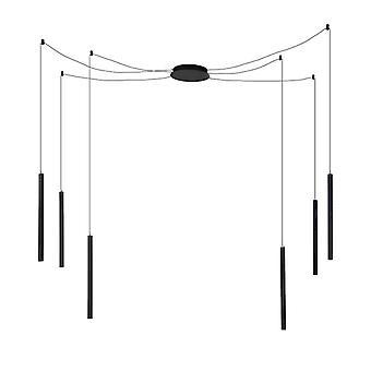 QAZQA colgante moderna lámpara 6 LED incl. negro - Ragno