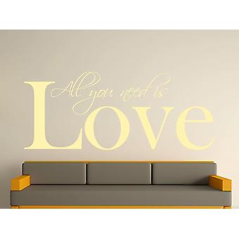 All You Need Wall Art Sticker - Beige