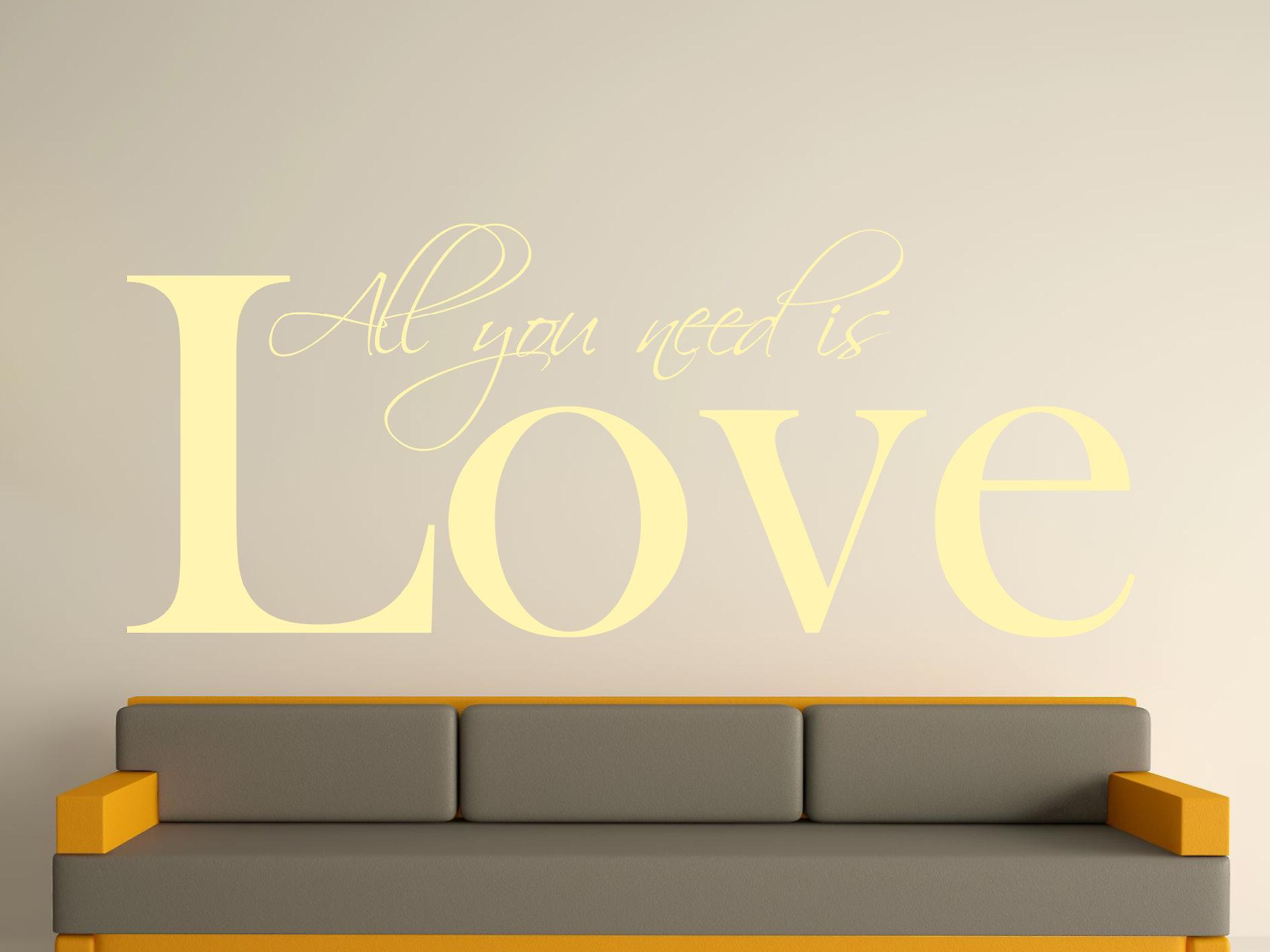 All You Need Wall Art Sticker - Beige