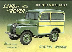 Land Rover Early Station Wagon Metal Sign (fd)