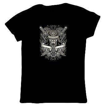 Samurai Womens T-Shirt   Samurai Ninja Viking Spartan Roman Ronin Gladiator    Christmas Birthday Anniversary Celebration Gift    Pop Culture Gift Her Mum