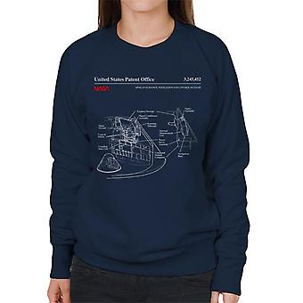 NASA Apollo Control Systeme Blueprint Damen Sweatshirt