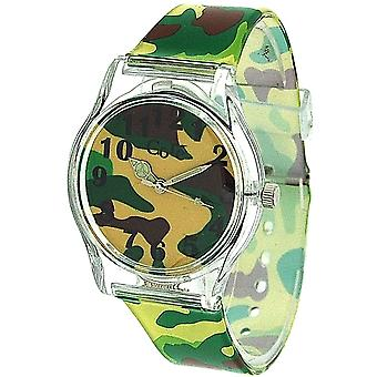 Core Boys Analogue Green Army Camouflage Plastic Strap Watch Core06