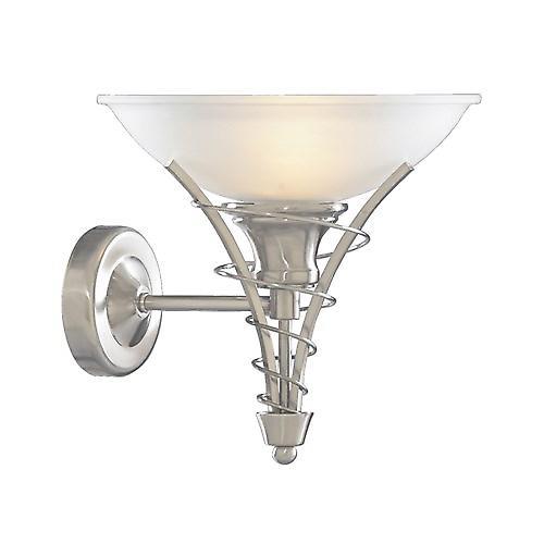 Searchlight 5227SS Linea Twist Satin Silver Wall Bracket And Acid Glass