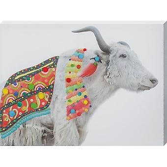 Grindstore Funky Cow Large Canvas Print