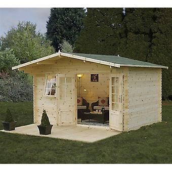 Forest Garden Buxton Log Cabin 34mm x 4 x 3m
