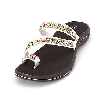 Easy Street Womens Glance Open Toe Casual Slide Sandals
